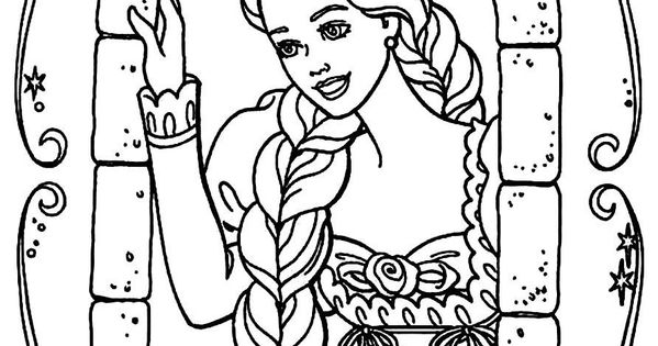 coloring pages barbie as rapunzel - photo#7