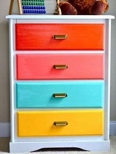 Go Bold With Painted Drawers Kids Dressers Painted Drawers Furniture Makeover