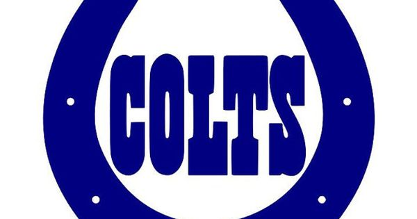 2pack indianapolis colts horseshoe decal 15 color by decalsource   4 00