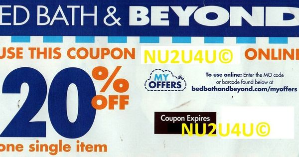 Bed Bath Beyond Online Coupon 20 Off One Item Expires 10 27 2020 New Unused Bedbathbeyond Bed Bath And Beyond Online Coupons Bath And Beyond Coupon