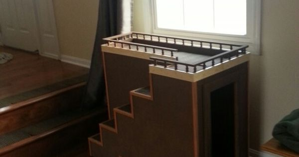 Dog Ramp For Bed >> Dog window seat with toy storage. | for the dogs ...