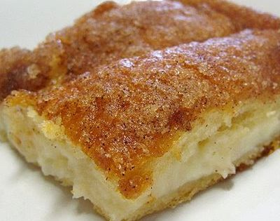 Sopapilla Cheesecake: tastes just like a cheese danish. I skipped the melted