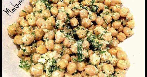 Chickpea (garbazo bean) Salad with Lemon and Parmesan Cheese | Recipe ...