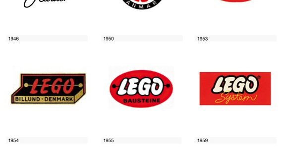 Evolution of the Lego Logo. lego brand design legologo evolution