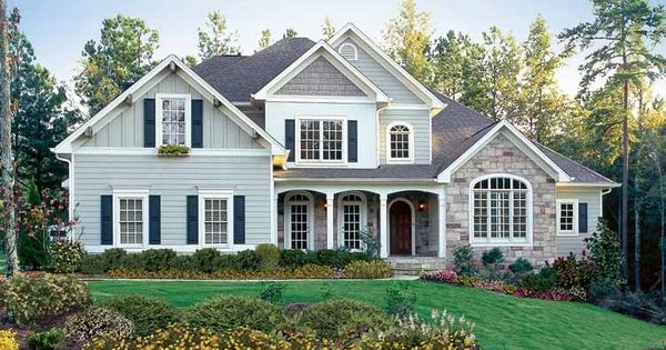 New American House Plan With 3728 Square Feet And 4