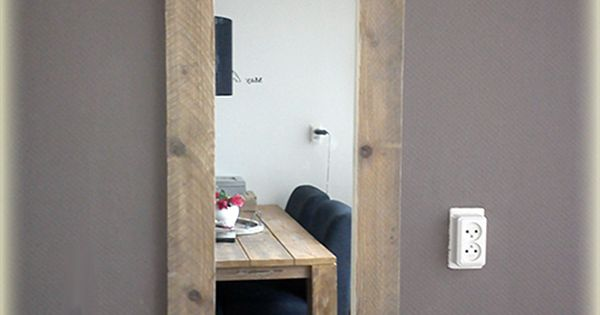 Voor luxe kwaliteit spiegels met een lijst van steigerhout elke afmeting spiegels - Deco voor een kamer ...