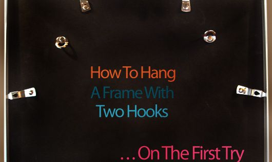 How To Hang Picture Frames With Two Hooks More Hang