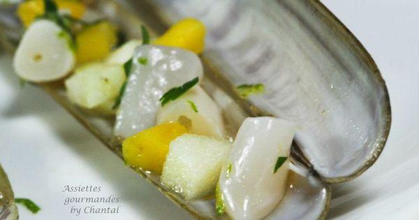 couteau de mer la mangue gingembre et citron vert recettes de cuisine coquillages. Black Bedroom Furniture Sets. Home Design Ideas