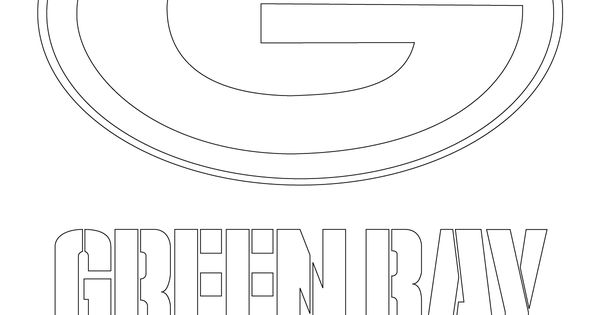 Green Bay Packers Logo Coloring Page Jpg 1200 215 1600 Go