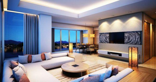 Indirekte beleuchtung ideen modernes wohnzimmer dekokissen for Moderne leuchten wohnzimmer