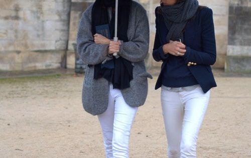 street style - white denim!