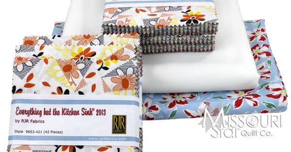 everything but the kitchen sink fabric irene quilt kit by msqc from missouri 9649