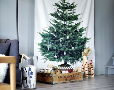 weihnachtsbaum gedruckt auf stoff ikea adventskalender. Black Bedroom Furniture Sets. Home Design Ideas
