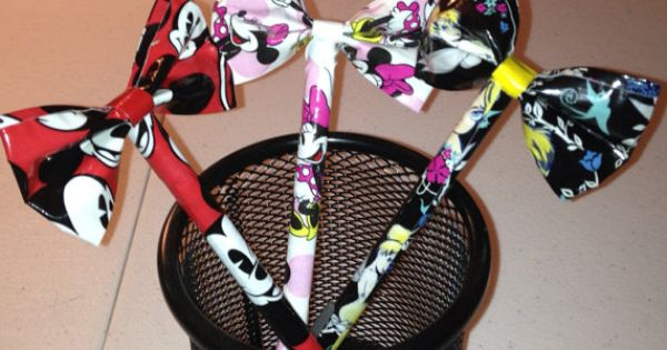DIY: duct tape bow pen!