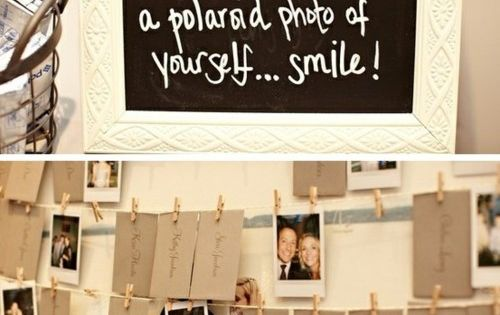 Hang the placecards on a string with clothespins. On the table below
