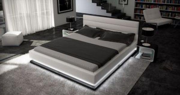 Sofa Dreams Berlin Wasserbett MOONLIGHT LED Komplett Set Jetzt - komplett schlafzimmer mit matratze und lattenrost