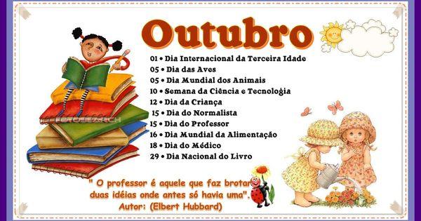 Pin De Maria Em Cartaz Datas Comemorativas De Outubro Educacao