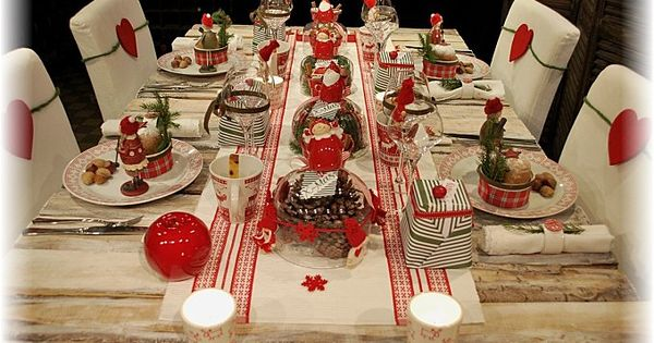 Table noel traditionnel deco pinterest table noel for Decoration noel traditionnel