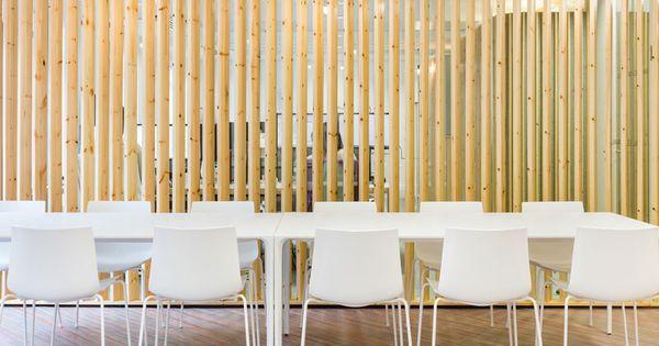 comment d corer un int rieur avec des lames de bois salles de r union r unions et idee deco. Black Bedroom Furniture Sets. Home Design Ideas