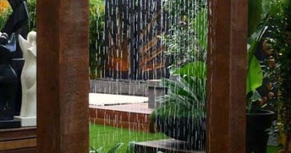Giant copper rain shower wonderful water feature design for Copper in shower water