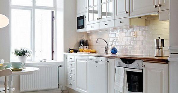 Cocinas blancas y negras azulejos blancos cocina blanca - Azulejos blancos cocina ...