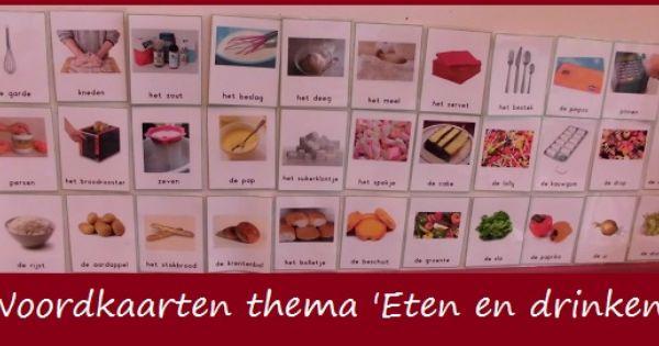 Citaten Eten En Drinken : Woordkaarten thema 'eten en drinken klas van juf linda