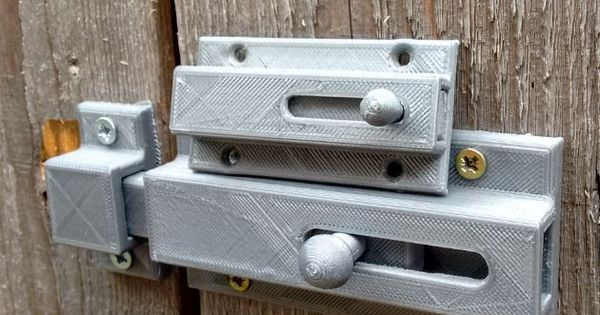 Sliding Door Bolt Print Fully Assembled By Bogul Thingiverse Sliding Doors Bolt 3d Printing