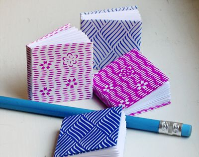 How to make origami mini paper books: sometimes pins really stand out
