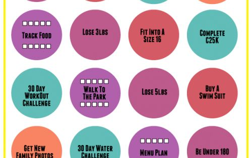 summer fitness bingo  with printable