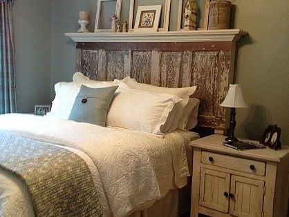 Wall Colors, Old Doors Headboards, Guest Bedrooms, Spare Bedrooms, Door Headboards, Head