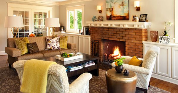 15 warm craftsman living room designs fabrics design for Craftsman living room design ideas
