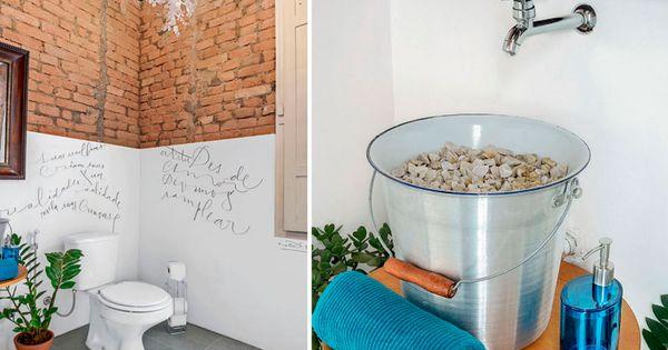 30 banheiros pequenos que fogem do convencional ba os for Banos originales pequenos