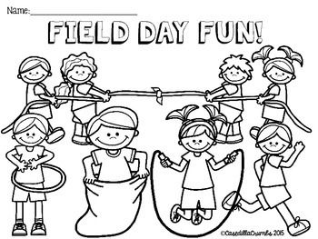 Field Day Fun Freebie Coloring And Writing Sheets Field Day