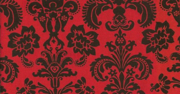 Fabric Design Red Amp Black Damask Seeing Red