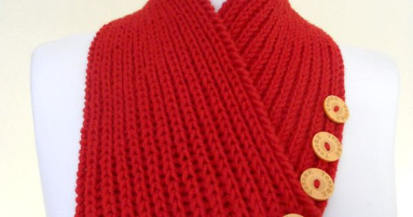 new red neck warmers, autumn, wool, hand-knitted,Holiday Accessories ...