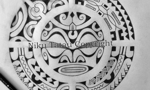 dessin tatouage symbol rond ou soleil tiki maori polynesien sun design tattoo by niku maori. Black Bedroom Furniture Sets. Home Design Ideas