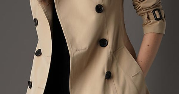 Short Cotton Gabardine Trench Coat | Burberry love love love these coats