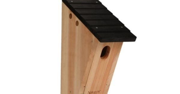 Cedar Bluebird Peterson House Peterson Style Bluebird House Is Made Of Insect And Rot Resistant Premium Cedar And St Cool Bird Houses Bird House Bird Houses