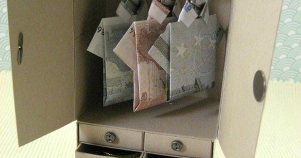 Kirstens Stempelkiste: Kleiderschrank als Geldgeschenk