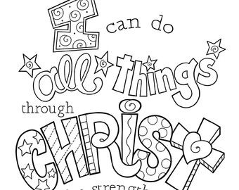 33++ I can do all things through christ coloring page HD