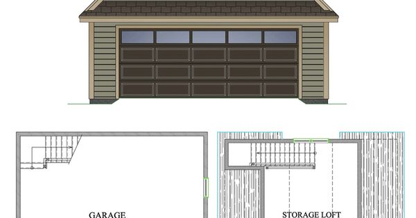 Sugarloaf garage plan 26 39 x 28 39 2 car garage 378 sq ft for Two car garage plans with bonus room
