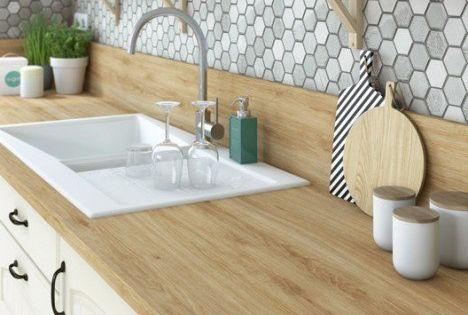 leroy merlin plan de travail droit stratifi ch ne naturel 315 x 65 cm p 16 mm. Black Bedroom Furniture Sets. Home Design Ideas