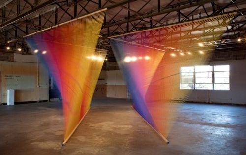 Installation Artistic Installation Thread Art Creating Artwork