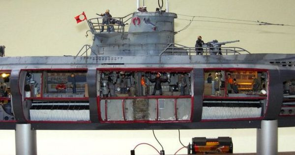 German U Boat Type Viic Model 7c Cutaway Model