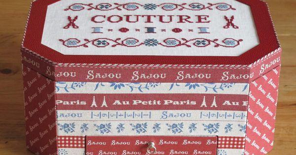 Boite couture ou coffret de brodeuse mod le de dominique for Boite a couture la redoute