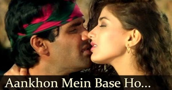 Aankhon Mein Base Ho Tum Duet Sunil Shetty Sonali Bendre Takkar Bollywood Songs Abhijeet Lagu Bollywood