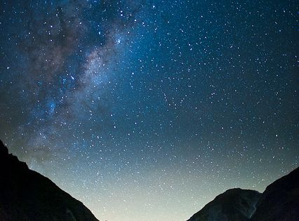 FOX glacier and Milky Way, South Island, New Zealand