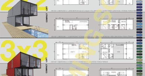 Container homes floor plans shipping container homes and offices pinterest home floor - Lot ek container home kit ...