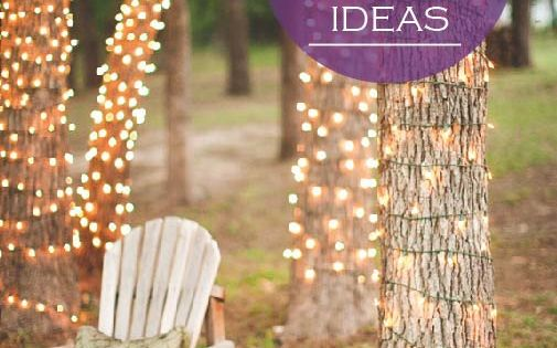 there is no such thing as too many twinkle lights. Great idea for Christmas lights on our trees!
