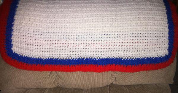 KU baby blanket-- Chain stitch until about 30 long. Single crochet ...